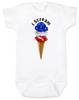 red white blue ice cream Bodysuit white
