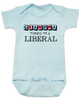 Grandma thinks I'm a Liberal baby Bodysuit, Little Liberal, Liberal Baby, Democrat baby, Republican grandparents, funny political baby Bodysuit, Future Democrat, Future Republican, 2016 Election baby Bodysuit, funny election baby, blue