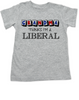 Grandma thinks I'm a Liberal toddler shirt, Little Liberal, Liberal kids, Democrat toddler, Republican grandparents, funny political toddler shirt, Future Democrat, Future Republican, 2016 Election toddler shirt, funny election toddler shirt, Personalized Election toddler shirt, grey shirt