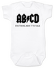 Ready to Rock Baby Gift Set, Rock and roll baby shower gift, ABCD baby Bodysuit, for those about to talk, ACDC baby Bodysuit