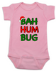 Bah Humbug christmas baby Bodysuit, funny christmas baby clothes, christmas carol baby Bodysuit, humbug, pink