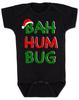 Bah Humbug christmas baby Bodysuit, funny christmas baby clothes, christmas carol baby Bodysuit, humbug, black
