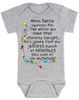 Christmas Story baby Bodysuit, jolliest bunch of assholes Bodysuit, classic Christmas Movie Bodysuit, A Christmas Story, funny christmas baby clothes, funny holiday baby Bodysuit, grey