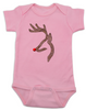 Rudolph red-nosed reindeer camoflage baby onesereindeer camochristmas baby Bodysuit