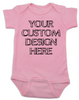 Design your own custom baby Bodysuit, create your own infant bodysuit, Personalized baby onsie, One of a kind baby present, customized baby gift, pink