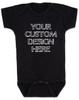 Design your own custom baby Bodysuit, create your own infant bodysuit, Personalized baby onsie, One of a kind baby present, customized baby gift, black