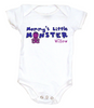 Mommy's Little Monster Personalized Baby Bodysuit Cool, badass and Geeky Bodysuits. Unique baby shower gift.