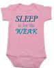 Sleep is for the weak baby Bodysuit, sleep deprived new mom gift, funny new baby gift, Sleep is for the weak, new baby no sleep, baby won't sleep infant bodysuit, pink
