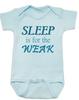 Sleep is for the weak baby Bodysuit, sleep deprived new mom gift, funny new baby gift, Sleep is for the weak, new baby no sleep, baby won't sleep infant bodysuit, blue