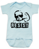 Resist Baby Bodysuit, protest baby Bodysuit, Resist infant bodysuit, , funny political baby girl clothes, baby protester, anti-trump baby gift, blue