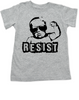 Resist toddler shirt, protest toddler shirt, protest toddler shirt, , funny political baby clothes, baby protester, anti-trump baby gift, grey