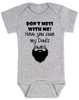 Don't mess with me have you seen my dad's beard, dad's beard baby Bodysuit, funny baby Bodysuit about dad's beard, my dad is cooler than your dad, dad with cool beard, Love my dad's beard, grey