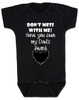 Don't mess with me have you seen my dad's beard, dad's beard baby Bodysuit, funny baby Bodysuit about dad's beard, my dad is cooler than your dad, dad with cool beard, Love my dad's beard, black