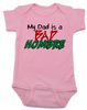 Bad Hombre Baby Bodysuit, my dad is a bad hombre, bad dude bad hombre, funny trump baby Bodysuit, funny political baby Bodysuit, bad hombre infant bodysuit, pink