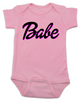 Babe baby Bodysuit, little barbie girl baby Bodysuit, Future babe, pink