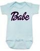 Babe baby Bodysuit, little barbie girl baby Bodysuit, Future babe, blue