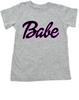 Babe toddler shirt, little barbie girl toddler shirt, Future babe, grey