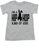 Hip Hop kind of guy toddler shirt, hip hop kind of girl toddler shirt, Cool Easter kid tshirt, funny easter toddler shirt, hip hop music kid shirt, Easter toddler gift for hip parents, I'm a hip hop kind of girl, grey
