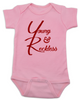 The young and reckless baby Bodysuit, the young and the restless baby Bodysuit, The Young & The Reckless, Young & Reckless babies, Soap Opera baby gift, pink