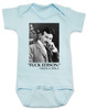 Nikola Tesla quote baby Bodysuit, fuck edison tesla quote, funny science baby onsie, blue