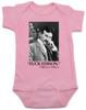 Nikola Tesla quote baby Bodysuit, fuck edison tesla quote, funny science baby onsie, pink