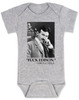 Nikola Tesla quote baby Bodysuit, fuck edison tesla quote, funny science baby onsie, grey