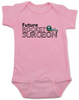 Future Rocket Surgeon baby Bodysuit, future personalized baby Bodysuit, rocket surgeon, custom funny baby gift, it's not rocket surgery baby, pink