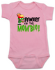 Beware of the Mombie, Mombie baby Bodysuit, new mom zombie, Zombie Mom baby gift, New Mombie, Baby shower gift for zombie lover, pink