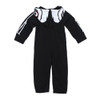 Toddler Skeleton Jumpsuit, Halloween Skeleton suit for toddlers, Skeleton jumpsuit with hood, vulgar baby skeleton suit, toddler skeleton costume, skeleton bones jumpsuit with face on hood, cool kids skeleton outfit, skeleton bodysuit for toddlers, Hooded Skeleton bodysuit , back