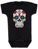 Dia de los Muertos baby Bodysuit, colorful sugar skull Bodysuit, Day of the dead baby Bodysuit, Halloween baby Bodysuit, black