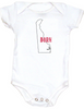 Born in Delaware Bodysuit. Show your Home State pride. Unique, cool, badass baby clothes. Makes a great baby shower gift.