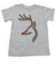 John Deer reindeer, browning kids shirt, funny christmas kid shirt,  badass christmas toddler tshirt, grey