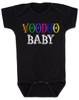 Voodoo Baby Bodysuit, voodoo lady baby bodysuit, ween baby Bodysuit, ween voodoo lady, voodoo baby, black