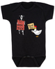 Eat more chicken baby Bodysuit, fuck you cow chicken baby bodysuite, funny animals baby Bodysuit, black