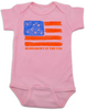 Homegrown in the USA baby Bodysuit, patriotic baby Bodysuit, fourth of july, memorial day, veterans day, American pride baby onsie, proud to be american, born in the USA baby Bodysuit, pink