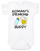 Mommy's drinking buddy, Drinking buddies Mother and child, Mom's drinking buddy baby Bodysuit, beer and baby bottle, Mom's best friend, drinking with mommy, Mommy drinking buddy baby onsie, funny beer baby Bodysuit, baby gift for beer drinking parents