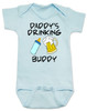 Daddy's drinking buddy, Drinking buddies father and child, Dad's drinking buddy baby Bodysuit, beer and baby bottle, Dad's best friend, drinking with daddy, daddy drinking buddy baby onsie, baby gift for beer drinking parents, funny beer baby Bodysuit, blue