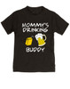Mommy's drinking buddy, Drinking buddies Mother and child, Mom's drinking buddy toddler shirt, beer and juice box, Mom's best friend, drinking with mommy, Mommy drinking buddy kid shirt, toddler gift for beer drinking parents, funny beer toddler t-shirt, black