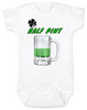 Lucky Half Pint Baby Bodysuit, Green beer baby Bodysuit, St. Paddy's Day baby, St. Patrick's Day baby bodysuit, funny Irish baby onsie, Irish baby gift, lucky Irish baby, beer baby Bodysuit, baby present for beer lovers, March baby gift, Irish beer drinking parents, Green Half Pint