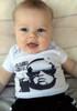 The Original Vulgar Baby, Vulgarbaby.com Logo, Badass Baby Boy in vulgar baby Bodysuit