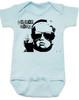 Vulgar Baby Logo Bodysuit, Badass Baby, Baby with middle finger, vulgarbaby, blue