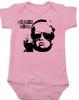 Vulgar Baby Logo Bodysuit, Badass Baby, Baby with middle finger, vulgarbaby, pink