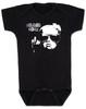 Vulgar Baby Logo Bodysuit, Badass Baby, Baby with middle finger, vulgarbaby, black