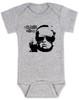 Vulgar Baby Logo Bodysuit, Badass Baby, Baby with middle finger, vulgarbaby, grey