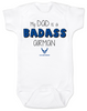 My dad is a badass airman, military dad baby Bodysuit, Airman dad, Badass dad infant bodysuit, US Air Force Airman dad onsie