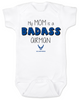 My mom is a badass airman, military mom baby Bodysuit, Airman Mom, Badass Mom infant bodysuit, US Air Force Airman mom onsie
