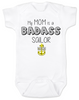 My mom is a badass sailor, military mom baby Bodysuit, Sailor Mom, Badass Mom infant bodysuit, Navy sailor mom onsie