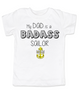 My dad is a badass sailor, military dad baby Bodysuit, Sailor dad, Badass dad infant bodysuit, Navy sailor dad onsie
