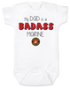 My dad is a badass Marine, military dad baby Bodysuit, Marine dad, Badass dad infant bodysuit, US Marine Corps dad onsie
