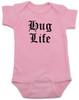 Hug Life gangsta baby Bodysuit, pink